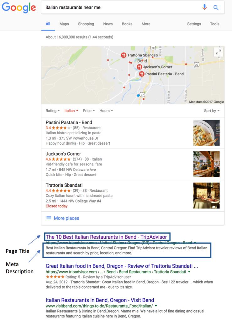 Google Title Tag and Meta Description